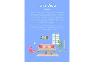 Home Decor Poster with Text Vector
