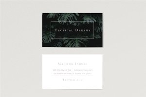 Tropical / Minimal Business Card