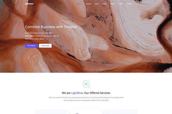 Lightflow - HTML5 Creative Agency