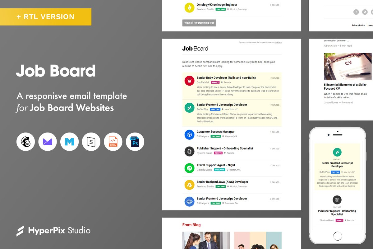 Job Board Email Template