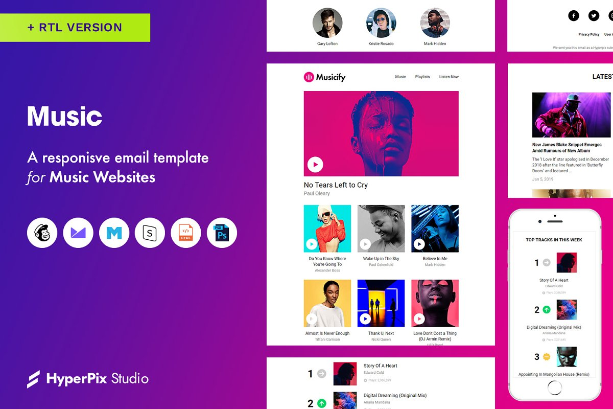 Music Email Template