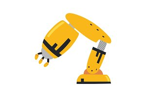 Robotic arm, hand. Vector
