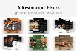 6 Restaurant Flyers