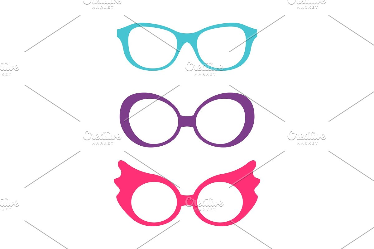 105d4633afd Spectacles Accessory Collection ~ Graphic Objects ~ Creative Market