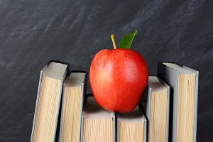 Red Apple on Books