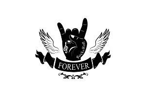 Forever Hand Gesture Horns Vector