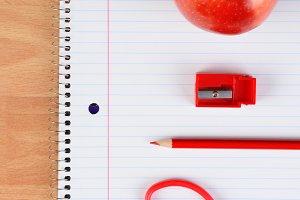 Red Scissors Pencil Apple Sharpener