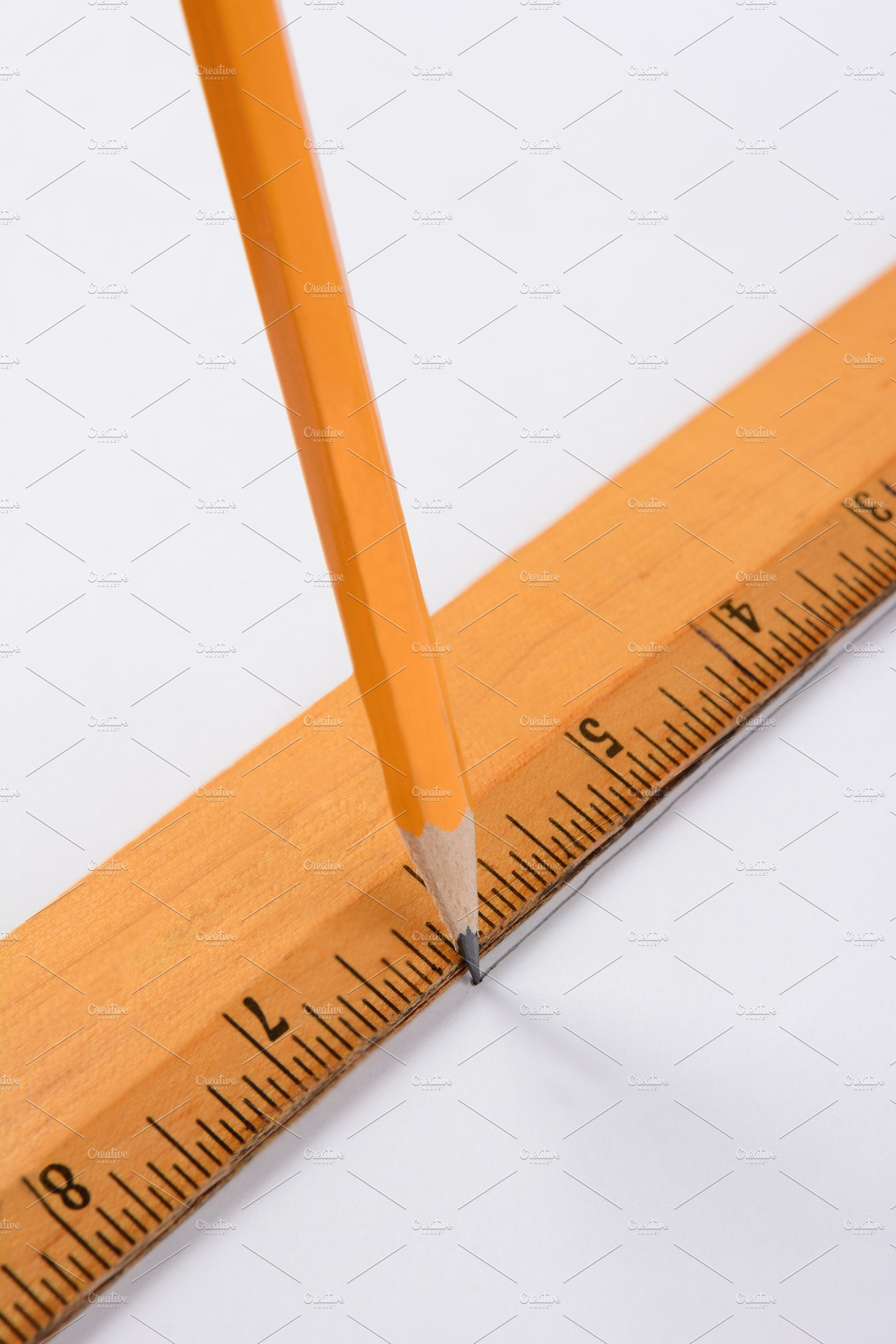 Drawing Lines With A Ruler : Pencil and ruler education photos creative market