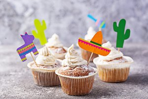 Cupcakes for celebrating Mexican