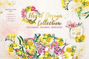 Floral Design collection watercolor