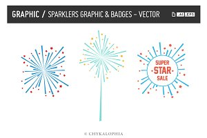 Sparklers Graphic Vector