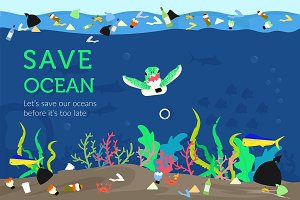 Illustration Save Ocean