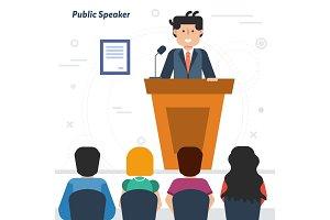 Public businessman speaker from