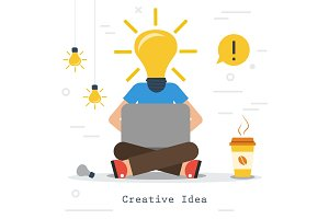 Creative business idea - man with