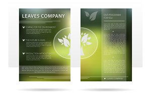 Template design advertising flyer