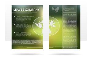 Template design advertising flyer