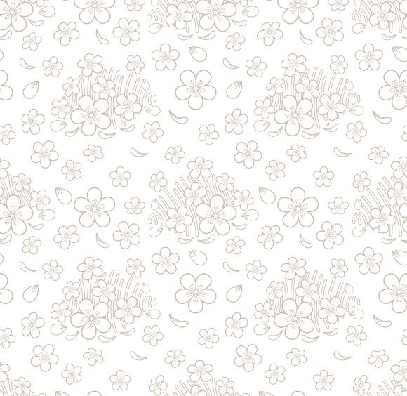 seamless simple floral pattern graphics creative market