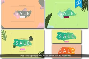 SALE Landing Page and Banner