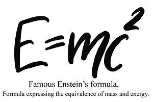 The famous formula  E=mc2