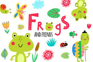 Frogs and friends + 2 patterns