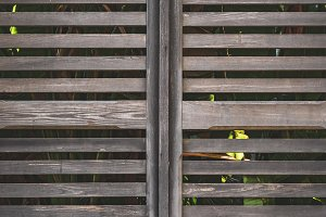 Old wooden shutter window