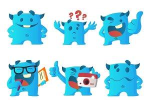 Illustration Of Cute Blue Monster