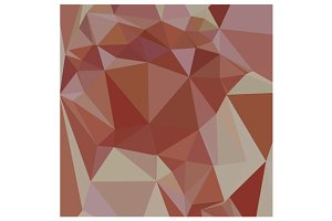 Congo Pink Abstract Low Polygon Back