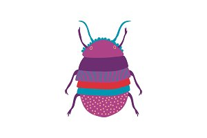 Cute Colorful Scarab Insect, Top