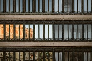 Rows of wrought iron windows