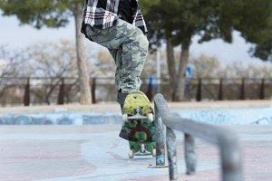 old man skater jumping