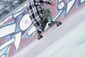 old man skater skating