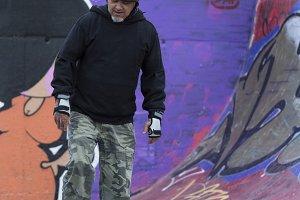 old man skating