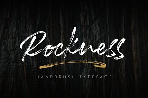 Rockness - Handbrush Typeface INTRO