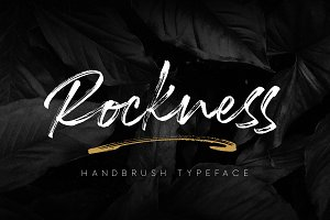 Rockness - Handbrush Typeface