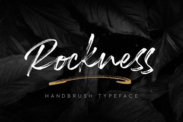 Script Fonts: MLKWSN - Rockness - Handbrush Typeface