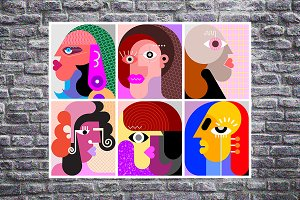 Six Faces / Six Avatars vector