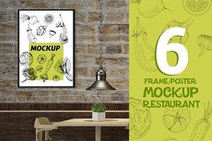 Mockup Bundle Poster Restaurant