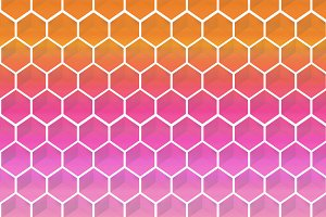 Abstract background of hexagoms