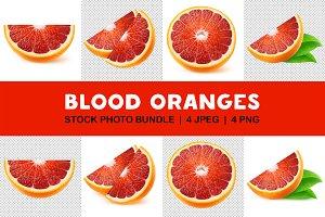 Isolated blood orange slices