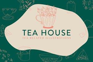 Tea House: Tea Related Illustrations
