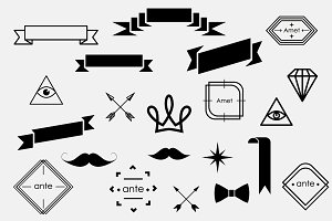 hipster graphic elements