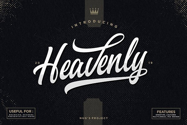 Script Fonts: Nug's Project - Heavenly Script