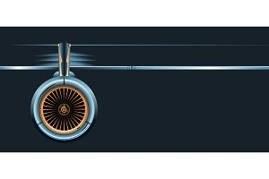 wing with turbine