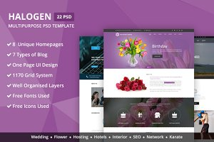 One Page PSD Templates Bundle