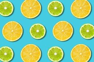 Vibrant fruit food background