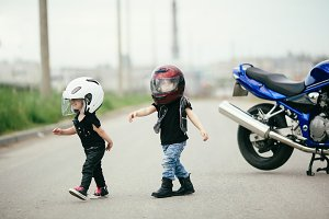 cute little bikers