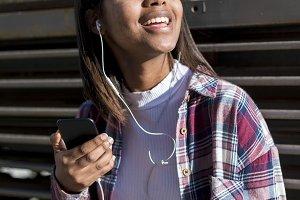 Portrait of a young black woman list