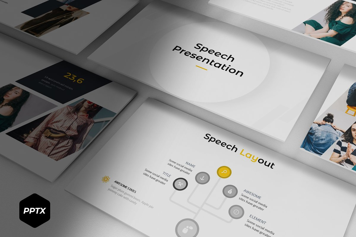 Speech - Powerpoint Template ~ PowerPoint Templates