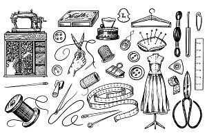 Set of sewing tools and