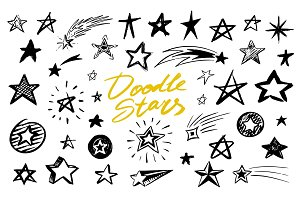 Set of Star signs. Doodle